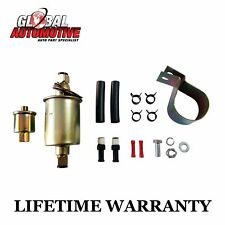 New Universal 12V Electric Fuel Pump & Installation Kit 4-9 PSI 30 GPH GA8012S