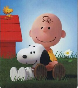 002-Cartoon SnoopyDog and Brown Sitting on the grass Computer MOUSE PAD (1pc)
