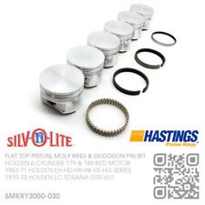 """186+030"""" FLAT TOP PISTON & MOLY RING SET 6 CYLINDER 179 RED MOTOR [HOLDEN EH-HD]"""