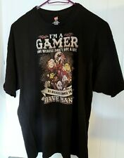 Mens I'm A Gamer Not Because I Don't Have A Life T-Shirt Top Size 3XL Hanes