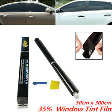 Window Tint Film 35% Extreme Dark Black 50 x300cm Roll Glass for Car Home Office