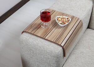 AVRC3040TB Handmade Sofa Tray Table Armrest Tray Coffee Table Sofa Table Walnut