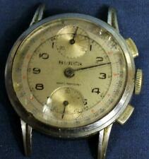 DB144. WATCH MAKER BUREN CHRONOGRAPH WRIST WATCH FOR PARTS OR REPAIR 17 JEWEL.