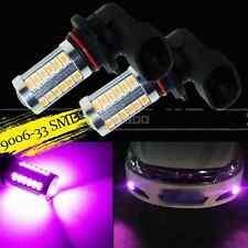 2X Purple Pink 9006 HB4 33SMD High Power LED For Car Fog Light truck Bulbs Lamp