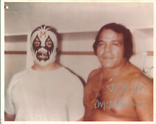 m583 Mil Mascaras & Jose Lothario signed wrestling 8x10 w/COA