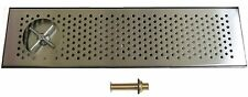 """Draft Beer Rinser Drip Tray 30"""" X 8"""" W/ S.S. Grill & 4"""" Metal Drain- Dtw-30Ss-R"""