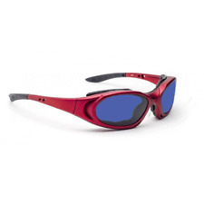 BoroTruView Shade #3 Glassworking Safety Glasses - 55-15-135 Red Plastic Wrap