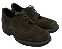 Dr Doc Martens England Lace-Up Oxfords Brown Suede Leather Mens 9.5 US|9 Uk