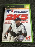 MLB 2K5 - XBOX - COMPLETE WITH MANUAL - FREE S/H - (F)