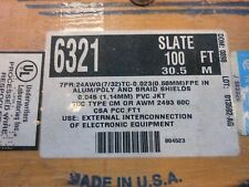 ALPHA WIRE 6321 SL005 Multi-Paired Cables 24AWG7PR SHIELD 100ft SPOOL SLATE
