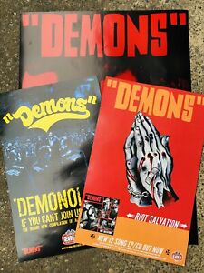Lot Of 3 Demons Promotional Posters Gearhead Records Swedish Garage Punk Hives