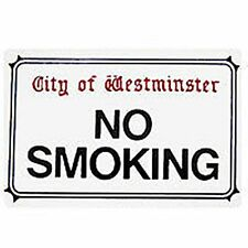 No Smoking London street sign enamel fridge magnet (gg)