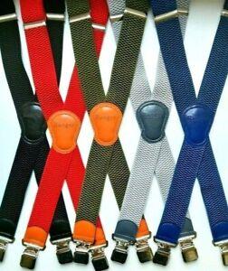 Ranger Hosenträger extra stark Breit 4 cm; extra stark 4 Clips, X-Form L. 125 cm