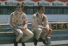 Jacky Ickx Hand Signed Scuderia Ferrari F1 12x8 Photo.