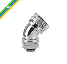 Thermaltake G1/4 PETG Tube 45Deg Compression 5/8inch (OD) Chrome, CL-W096-CA00SL