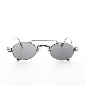 Small Gunmetal Steampunk Aviator with Oval Lens -The Professor