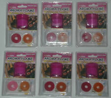 6x AROMA-FLAME FLAMELESS CANDLES Scented NEW tealight tea light CASSIA APPLE
