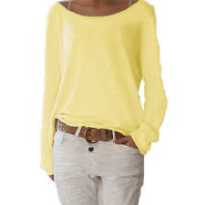 Women Long Sleeve Casual Loose Style Knit Blouse Ladies Top Tees Plus Big Sizes