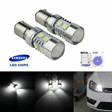2x H21W BAY9s SAMSUNG 10W LED Bulb Front Indicator Reverse Side Light DRL White