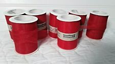 """New 7 RED Spool Tulle Ribbon Rolls 3"""" Inch X 10 Yards 100% Poly"""
