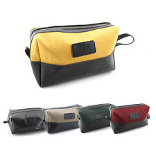 UNISEX Toiletry Leather Bags For Multi Purpose Makeup & Shaving Storage Case New
