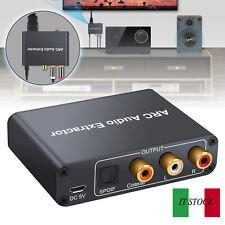 ARC HDMI Audio Extractor 192KHz DAC Convertitore e 3.5mm Jack ARC Adattatore IT