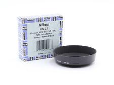Original Nikon HN-22 Pare Soleil Lens Hood 62mm pour AiS 35-70 3.5 / 60 2.8 MINT