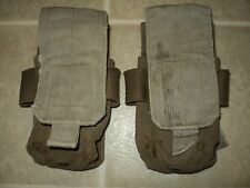 2-USMC ISSUE COYOTE SINGLE DOUBLE POUCH FIRE FORCE CIF
