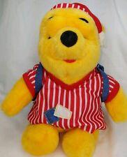 "Vintage Winnie the Pooh Mattel 1998 Plush Red White Striped Pajamas Bag 12"""