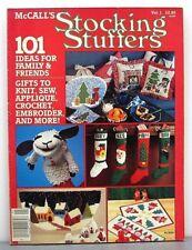 RARE 1985 McCall's 101 STOCKING STUFFERS Christmas gifts to knit crochet sew ++