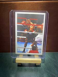 1986 EXCELLENT ORIGINAL MIKE TYSON ROOKIE CARD QUESTION OF SPORT BOXING BOXER