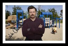 NICK OFFERMAN - PARKS AND RECREATION AUTOGRAPHED SIGNED AND FRAMED  POSTER PHOTO