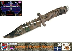 """Defender XTREME 7378  10.5"""" Fixed Blade Stainless Steel Camouflage Hunting Knife"""