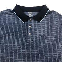 George Polo Shirt Mens XXL Blue Check Short Sleeve Casual