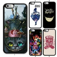 Alice in Wonderland Mad Cat Case Cover For Apple iPhone 11 iPod / Samsung Galaxy