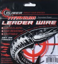 Caliber Titanium Fishing Leader Wire Single Strand 50lb 15ft