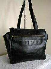 Fossil Authentic Cow Hide Leather Black Ladies Bag Grab Shoulder Handbag N19