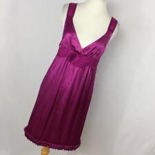 See By Chloe 6 Silk Dress Violet Purple Empire Waist Ruffle Sleeveless Women S2P
