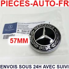 Logo Capot Insigne Mercedes Sigle Noir 57mm Emblème CLASSE A B C E S CLA CLS AMG