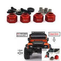 4X Metal 8MM Extend  Widen Wheel Adapter for Traxxas 1:10 RC Crawler Model Car