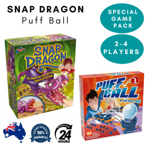 TOMY Snap Dragon & Puff Race Blow Ball Party Game For Kids Child Special Pack