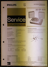 PHILIPS Service Dokumentation 22 GF 808, 10/1971, original + komplett