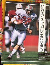 1989 September 9 Oregon State V Stanford Football Game Program