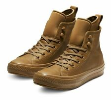 Converse CTAS Boot Hi Mens 6.5 Womens 8.5 Leather 162500C Caramel Waterproof/WP