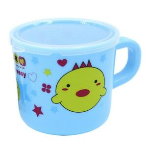 Toddler Baby Kids Resuable Cartoon Plastic Water Plastic Mug Cup With Handle New