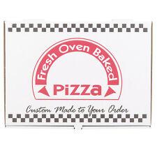 "17"" x 25"" White Corrugated Pizza Box - 25 / Case Fast Shipping !"