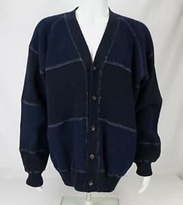 Comme Des Garcons Men's Cardagan Button Up Sweater Purple Size XL