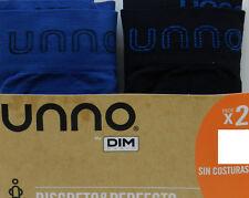 Pack 2 slips Unno sin costuras microfibra Negro-azul L/xl