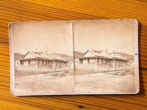 DEADWOOD Dakota Territory South FORT MEADE Hospital Stereoview SV c.1870's Photo
