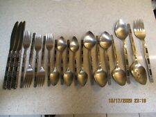 Oneida Community MADRID Black Accent Stainless Flatware 20 Pieces